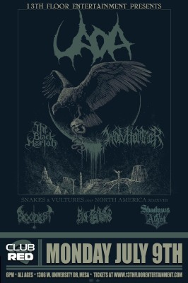 UADA WITH WOLVHAMMER, THE BLACK MORIAH, AND SPECIAL GUESTS MONDAY, JULY 9TH AT CLUB RED IN MESA, AZ